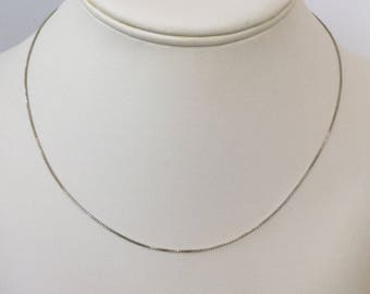 "Vintage Italian 925 Silver Chain Necklace 18"" Flash Sale"