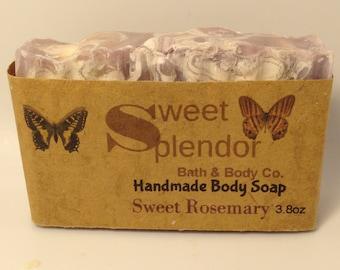 Handmade Soap-Sweet Rosemary Soap-Artisan-Handcrafted-Hand and Body Soap-Rosemary Soap