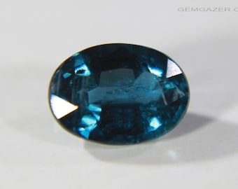 Teal blue Chrome Kyanite, faceted, India. 1.02 carats