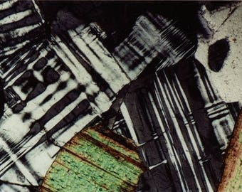 Mineral Thin Section Photography - Digital Prints on Canvas -  Feldspar and Biotite
