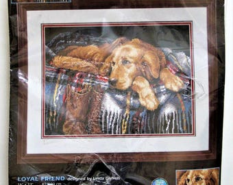 Dimensions Needlepoint Loyal Friend #20005 Linda Daniels 2002 Dog on Sofa
