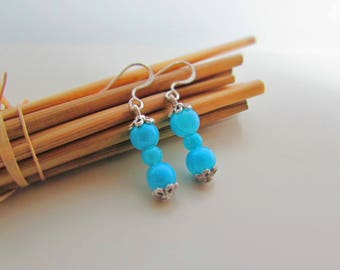Quite simply earring turquoise - ref 16
