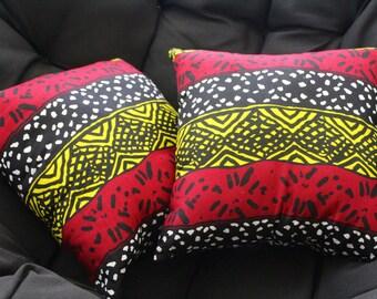 Mali mud cloth print pillows (set of 2)