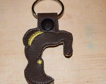 Belle keyfob keychain zipper pull bag tag Disney Gift