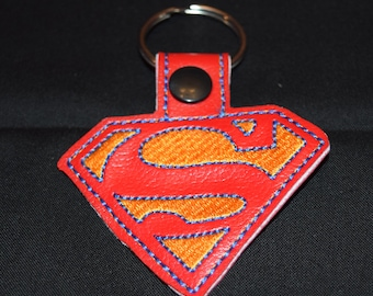 Superman key fob key chain zipper pull bag tag.