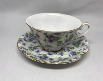 Vintage Lefton China Tea Cup & Saucer