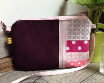 The Pocket Moon, my little plum suede handbag