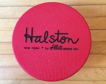 Halston Hat Box or Wig Carrier