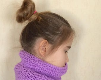 Snood neck kids purple color
