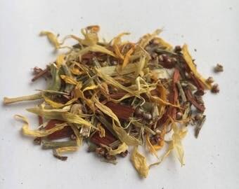 lughnasadh / lammas loose incense | sabbat | sandalwood, frankincense, heather flowers, vervain, calendula | 2oz | aromatherapy