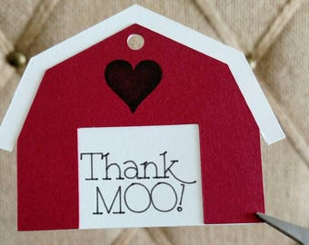 Thank You (Moo) tags- Set of 18