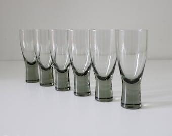Fabulous vintage glasses by Per Lutken for Holmegaard x 6