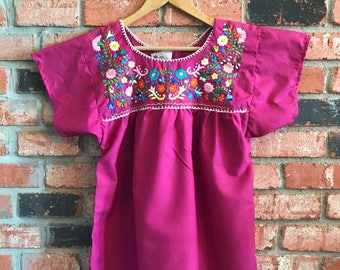 Embroidered Mexican Blouse - S Pink