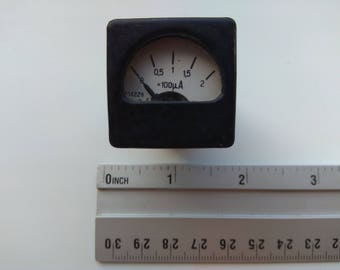 Very Small SOVIET Russian USSR Microammeter M4228 1991 year Military use