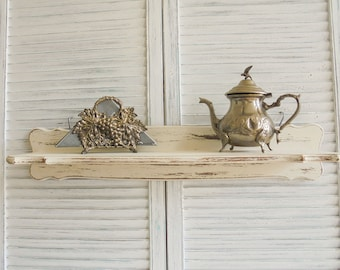 Wall shelf shelf shelf rack Shabby Chic upcycling vintage antique white