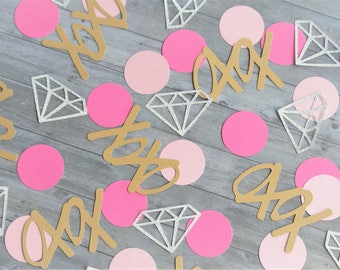 Paper Confetti, Bachelorette Party Decorations, Bachelorette Confetti, Bridal Party Decorations, Diamond Confetti, Party Decorations