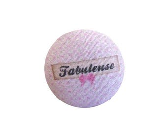 x 1 cabochon 28mm fabulous BOUT12 fabric