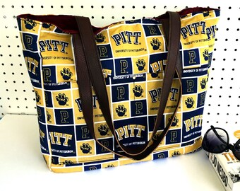 University of Pittsburgh NCAA Diaper Bag, Large Shoulder Tote Bag, Large Tote for game day