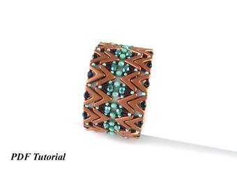 """DIY Bracelet, Beaded Patterns, Ava Beads Tutorial, Jewelry Tutorial, Beading Bracelet, Cuff Pattern, Beadwork Pattern, """"Anita"""" Bracelet"""