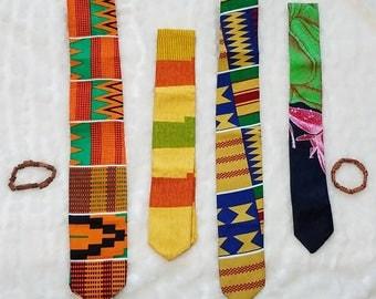 Ankara Tie/Kente Tie/Ethnic Tie/African Neck Tie/African Fabric Print Tie