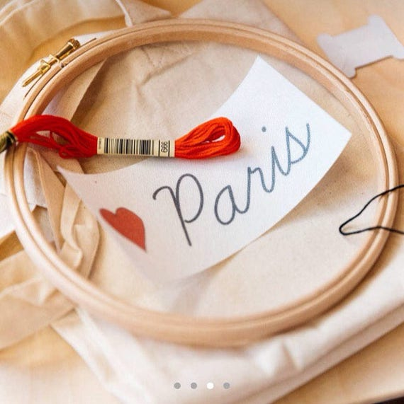 Love Paris - Tote bag EASY embroidery