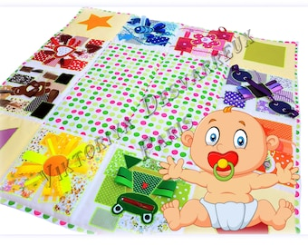 Baby play mat, Outdoors-gift, Sensory, Playmat, Baby Activity Mat, Busy Blanket ,Sensory toys, Personalized Baby gift, Outdoors play mats