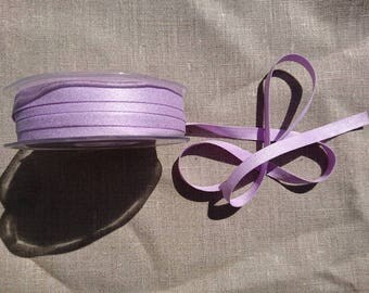 "Pack of 5m of ""Peach Skin"" ribbon 9mm / 88 Light purple"