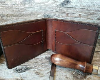 Men's leather wallet/leather wallet/free shipping/portafoglio in cuoio/кожанный кошелек/кожанный бумажник.