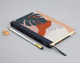 Abstract Tropical Leaf 200 Page A5 Notebook