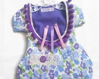 Handmade peg bag, Purple dress style peg bag, hanging clothes laundry peg bag, Cotton hanging peg bag,cotton peg bag, peg holder, purple bag