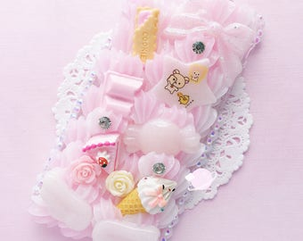 Rilakkuma Bakery iphone 6 decoden case, kawaii decoden case, rilakkuma bakery decoden, korilakkuma case, pastel pink case, whip phone case