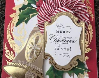 Greeting card Christmas card, handmade, Holiday card
