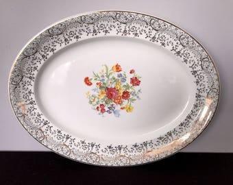 Vintage Steubenville Large Oval Serving Platter