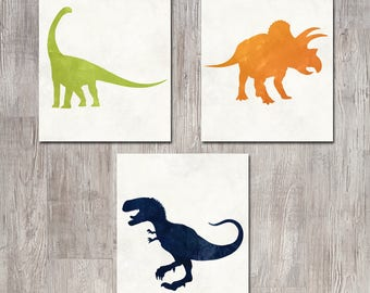 Dinosaur Decor - Dinosaur Nursery - Dinosaur Wall Art - Dinosaur Nursery Art - Nursery Decor - Baby Boy Nursery - Dinosaur Print - Printable
