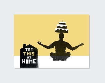 Try this at home // Happy birthday // postcard (A6)