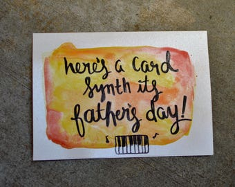 Here's a card synth it's fathers day - Handmade Watercolor Card