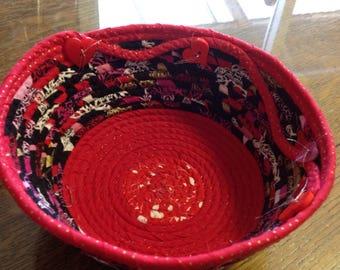 Valentine rope bowl/basket