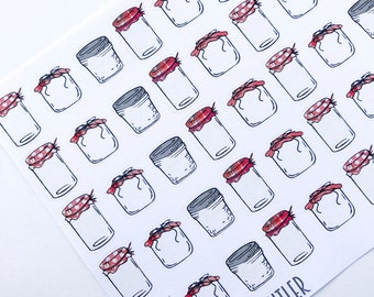 F146--This Is My Jam Planning Stickers for the Erin Condren or Happy Planner. Canning sauce salsa jar gift