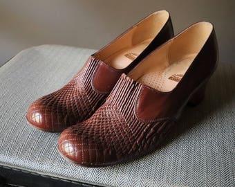 Vintage brown shoes, Vintage Shoes size 37 Eur 4 UK