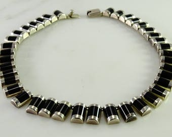 J Comes Old Mexico Onyx Sterling Silver Necklace