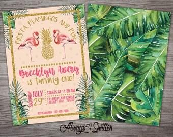 BIRTHDAY INVITATIONS - Fiesta, Flamingos and Fun