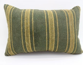 16x24 Pillow Cover Striped Pillow Bohemian Pillow 16x24 Green Pillow Yellow Pillow Navajo Pillow Cushion Cover SP4060-1304