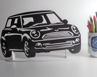 decoration plaque enseigne en metal AUSTIN MINI one