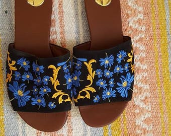 Mexican Sandals/Sandals with Embroidery