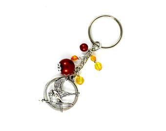 Made handmade Katniss Hunger Games mocking Jay keychain