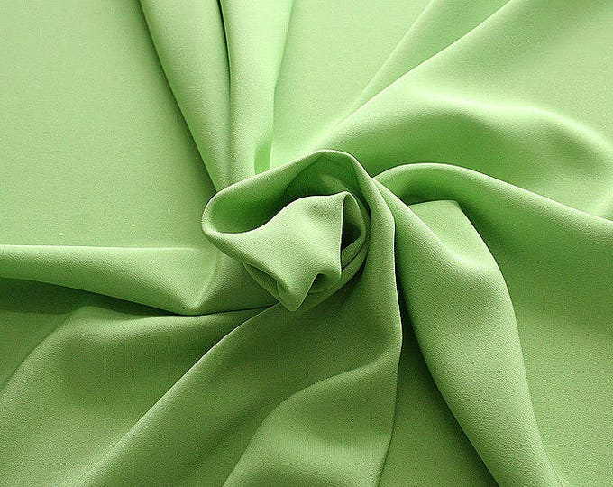305086-Crepe marocaine Natural Silk 100%, width 130/140 cm, made in Italy, dry cleaning, weight 215 gr