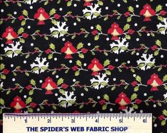 BIRDS on a VINE - Red Birds - by In The Beginning - Tweety Birds - Berries ~ 100% Cotton - Quilt Shop Quality ~ By the Yard