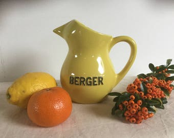 French Vintage Bistro 'Berger' Water Jug