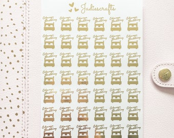 Foil Change Bedding Stickers | Planner Stickers