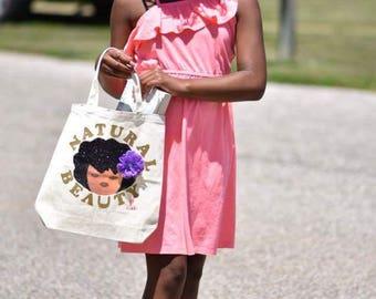 Natural Beauty child's medium tote bag